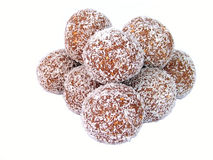 Chocolate truffles. Rum balls royalty free stock image