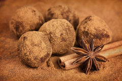 Chocolate truffles Royalty Free Stock Photo
