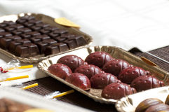 Chocolate Truffles And Other Candies Stock Images
