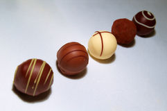 Chocolate Truffles Assortment Stock Photography
