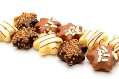 Chocolate truffles assortment Royalty Free Stock Photo