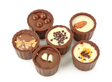 Chocolate truffles assortment Stock Image