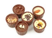 Chocolate truffles assortment stock image