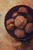 Chocolate truffles cakes Royalty Free Stock Image