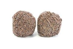 Chocolate truffles chocolate sprinkles stock image