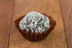 Chocolate truffles with coconut Royalty Free Stock Image