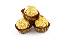 Chocolate truffles isolated Stock Photography