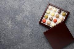 Chocolate truffles mix Stock Photo