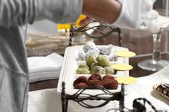 Chocolate truffles and other candies Royalty Free Stock Photography