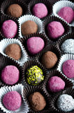 Chocolate truffles Stock Photo
