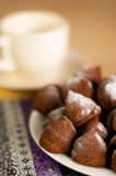 Chocolate truffles shallow dof Royalty Free Stock Images
