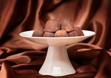 Chocolate truffles in vase Royalty Free Stock Photo