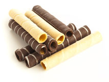 Chocolate tubes Royalty Free Stock Images