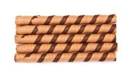 Chocolate tubules Royalty Free Stock Image