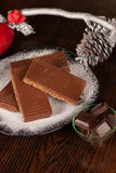 Chocolate turron Royalty Free Stock Photos