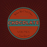 Chocolate typographic vintage retro template Royalty Free Stock Photography