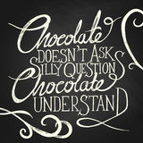 CHOCOLATE understand - phrase Royalty Free Stock Photo
