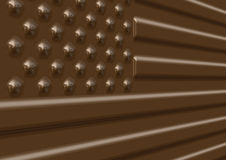 Chocolate USA flag illustration Royalty Free Stock Photos
