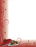 Chocolate Valentine Border Royalty Free Stock Images