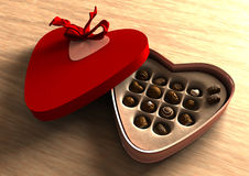 Chocolate valentine box Royalty Free Stock Photo