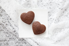 Chocolate Valentine Cake Stock Image