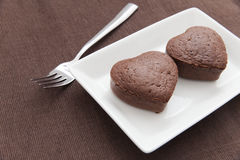 Chocolate Valentine Cake Stock Photo