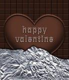 Chocolate valentine heart Stock Image