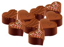 Chocolate,valentine's day Royalty Free Stock Photos