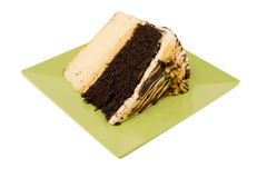Chocolate vanilla cake Royalty Free Stock Photos