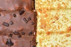 Chocolate and vanilla cake Stock Image