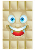 Chocolate vanilla cartoon character laughing Royalty Free Stock Photos