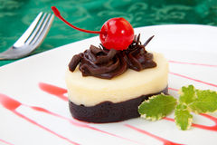 Chocolate Vanilla Cheesecake Royalty Free Stock Photos