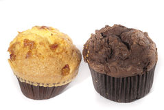 Chocolate and vanilla cup cake Royalty Free Stock Photography