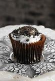 Chocolate And Vanilla Cupcake Stock Photo