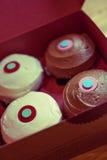 Chocolate and Vanilla Cupcakes Stock Photography