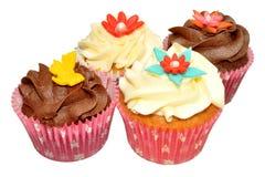 Chocolate And Vanilla Cupcakes Royalty Free Stock Photo