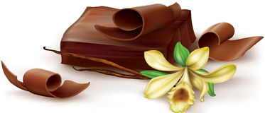 Chocolate with vanilla flover Royalty Free Stock Photo