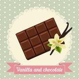 Chocolate and vanilla flower Royalty Free Stock Images