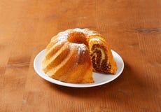 Chocolate and vanilla Kugelhopf cake Stock Photography