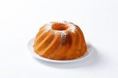 Chocolate and vanilla Kugelhopf cake Royalty Free Stock Images