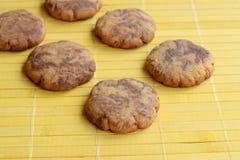 Chocolate vanilla swirl cookies. Homemade chocolate vanilla swirl cookies Royalty Free Stock Images