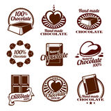 Chocolate vector logos, emblems and badges vector illustration