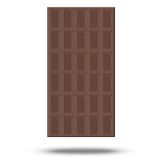 Chocolate vector. Plate on white background Royalty Free Stock Photography