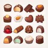 Chocolate vector sweets Stock Images