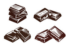 Chocolate vector symbol Royalty Free Stock Image