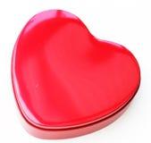 Chocolate vermelho em forma de caixa como um coração Fotografia de Stock Royalty Free