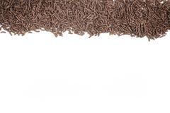 Chocolate Vermicelli. Chocolate Sprinkles Frame Stock Photos