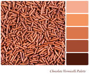 Chocolate vermicelli palette Royalty Free Stock Images