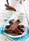 Chocolate Viennese fingers biscuits Stock Photo