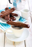 Chocolate Viennese fingers biscuits Royalty Free Stock Photos